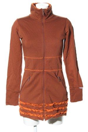 Blutsschwester Shirt Jacket light orange themed print casual look