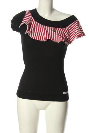 Blutsschwester T-Shirt Streifenmuster Casual-Look