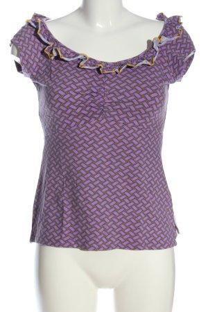 Blutsschwester Boothalsshirt lila-licht Oranje volledige print