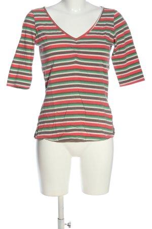 Blutsschwester V-hals shirt gestreept patroon casual uitstraling