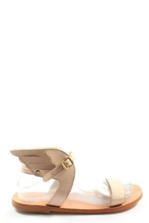 BM Wygodne sandały w kolorze białej wełny W stylu casual