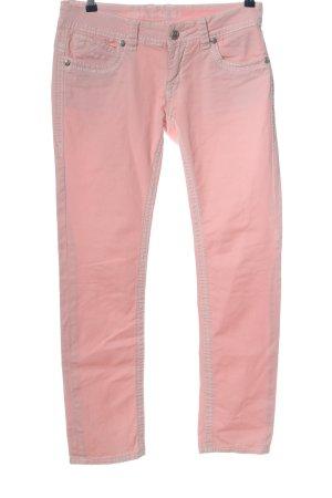BM Jeansy rurki różowy W stylu casual