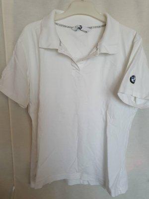 BMW Polo Shirt kurzarm weiß Logo Stickerei
