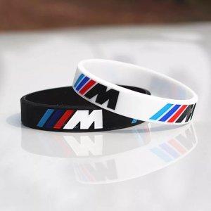 BMW Bransoletka biały-czarny