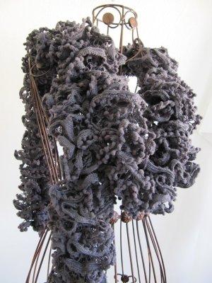 Boa Schal grau 175 cm lang