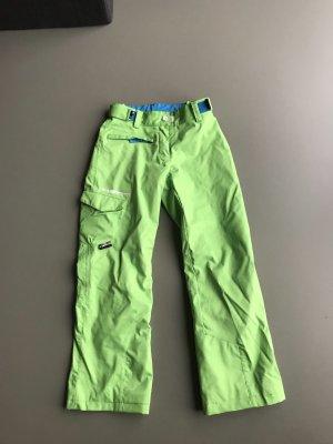 Ziener Pantalon thermique vert-vert fluo