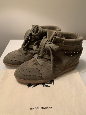 Isabel Marant Étoile Heel Sneakers taupe leather