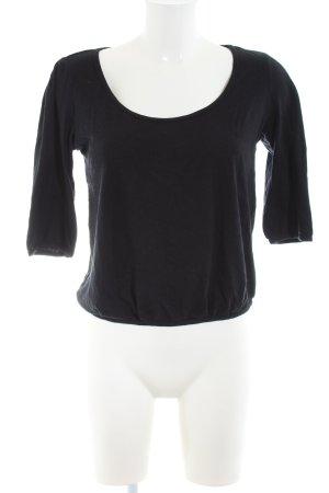 bobi Cropped Shirt schwarz Casual-Look