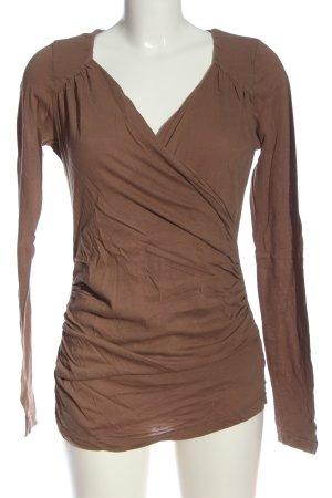 bobi Longsleeve brown casual look