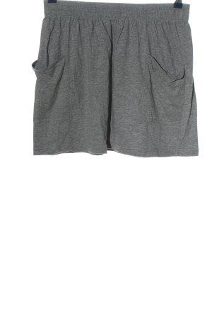 bobi Miniskirt light grey flecked casual look