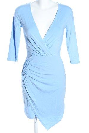 bobi Sukienka ze stretchu niebieski W stylu casual
