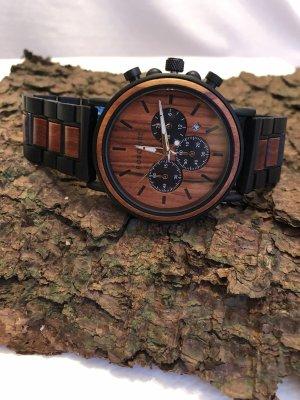 Analog Watch orange wood