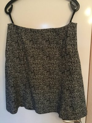 Biba Flared Skirt black-white cotton