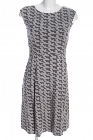 Boden A Line Dress black-light grey allover print casual look