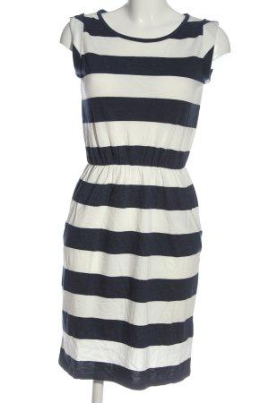 Boden A-Linien Kleid blau-weiß Streifenmuster Casual-Look