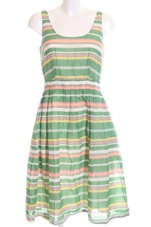 Boden A-Linien Kleid Streifenmuster Casual-Look