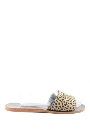 Boden Mule à talon brun-blanc cassé motif léopard style décontracté
