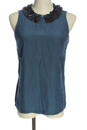 Boden ärmellose Bluse blau Casual-Look