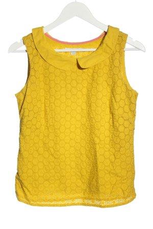 Boden Bluzka bez rękawów bladożółty Na całej powierzchni W stylu casual