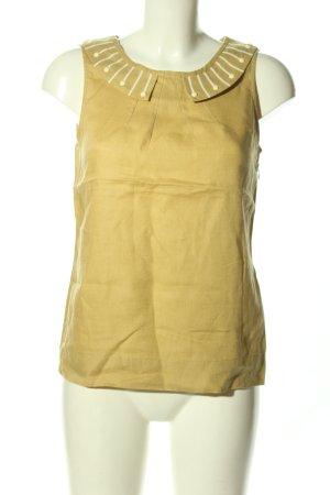 Boden ärmellose Bluse blassgelb Casual-Look