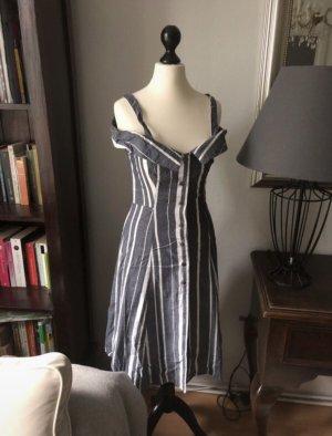 Asos White Sukienka bez ramiączek biały-ciemnoniebieski