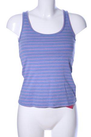 Boden Basic Top blau-pink Streifenmuster Casual-Look