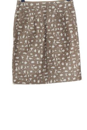 Boden Ołówkowa spódnica brązowy-biały Na całej powierzchni W stylu casual