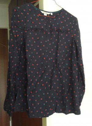 Boden Silk Blouse dark blue mixture fibre