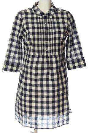 Boden Robe chemisier noir-blanc imprimé allover style décontracté