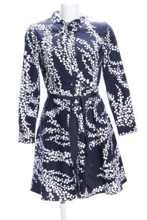 Boden Abito blusa blu-bianco stampa integrale stile casual