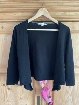 Boden Knitted Wrap Cardigan black