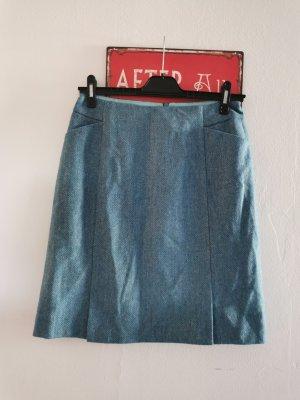 Boden Jupe en laine turquoise-bleuet