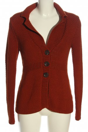 Boden Cardigan rot Zopfmuster Casual-Look