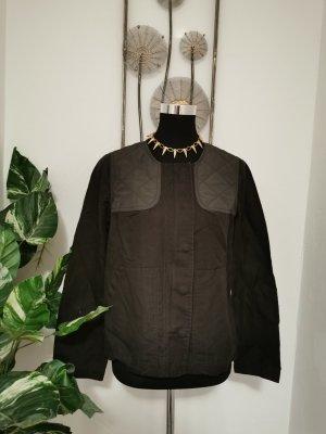 Boden Damen Übergangsjacke Leinen Jacke schwarz grau Größe 38