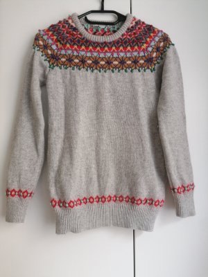 Boden Wool Sweater grey-red