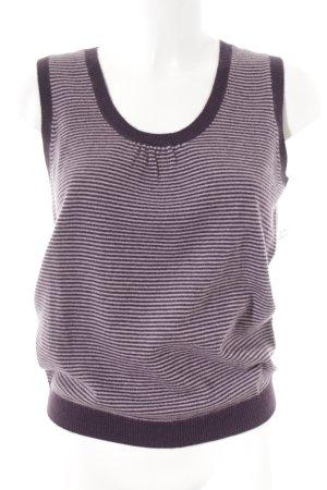 Boden Cardigan en maille fine violet foncé-mauve motif rayé