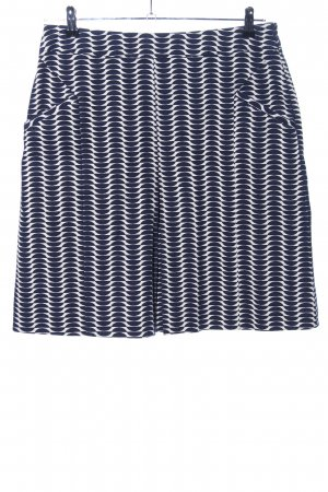 Boden Flared Skirt black-white allover print casual look