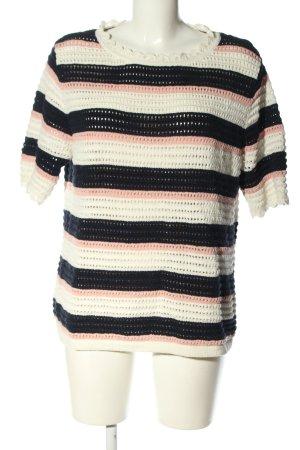 Boden Crochet Shirt striped pattern casual look