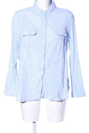 Boden Hemd-Bluse weiß-blau Streifenmuster Business-Look