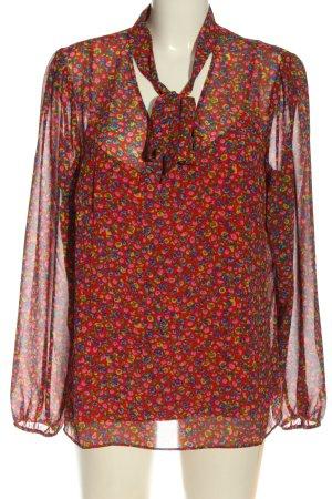 Boden Blouse-chemisier rouge-bleu motif abstrait style décontracté