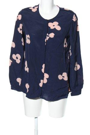 Boden Hemd-Bluse blau-creme Allover-Druck Casual-Look