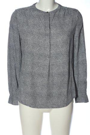 Boden Hemd-Bluse blau-weiß Allover-Druck Casual-Look