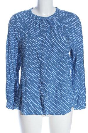 Boden Blouse-chemisier bleu-blanc imprimé allover style décontracté