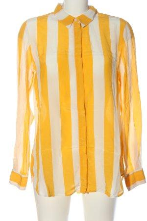 Boden Koszulowa bluzka biały-jasny pomarańczowy Wzór w paski W stylu casual