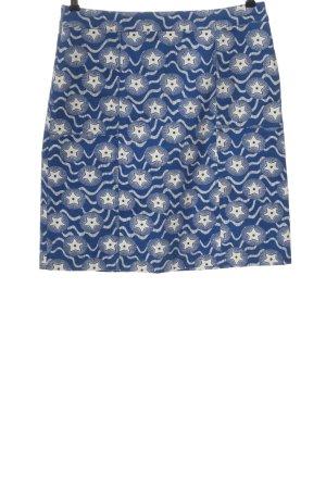 Boden Spódnica z wysokim stanem niebieski-biały Abstrakcyjny wzór