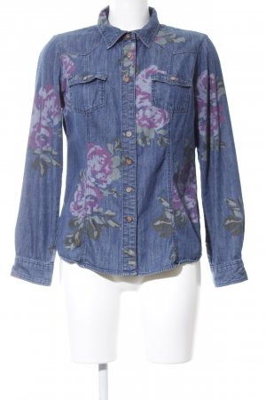 Boden Denim Blouse blue flower pattern casual look