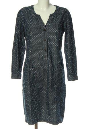 Boden Robe en jean bleu-blanc motif de tache style décontracté