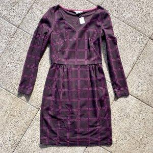 Boden Vestido de tela de jersey violeta amarronado-violeta