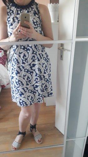 Boden Jersey Kleid, Größe M/36/UK 10, Weiß/Blau, 100% Baumwolle