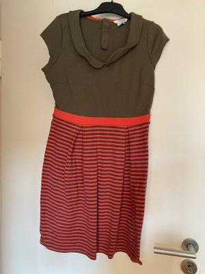Boden Jersey Dress red-khaki